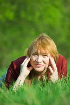 Free Woman  In A Spring  Meadow Stock Photography - 14329702
