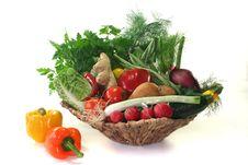Free Vegetable Basket Royalty Free Stock Photos - 14329818