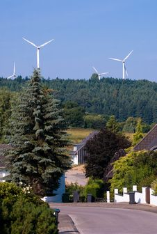 Free Windmill Generators In Germany Royalty Free Stock Photo - 14329845