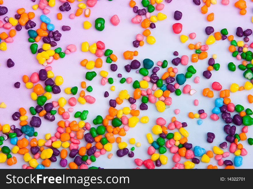 Vibrant colored candy