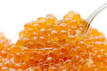 Free Teaspoon Red Caviar Royalty Free Stock Images - 14332779