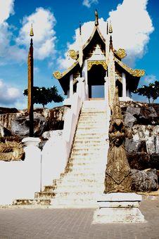 Northern Thai Pavilion Style. Royalty Free Stock Photo