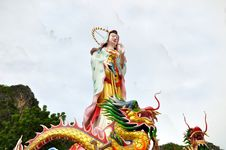 Free Chinese Goddess And Dragon Royalty Free Stock Photos - 14330678