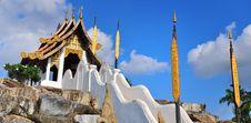 Northern Thai Style Pavilion. Royalty Free Stock Photo