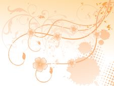 Free Abstract Colorful Orange Floral Background Stock Photo - 14331050