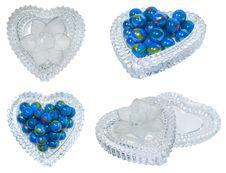 Free Elegant Heart Shaped Jewelry Box Royalty Free Stock Photography - 14331067