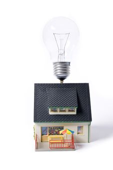 House With Bulb Stock Photography