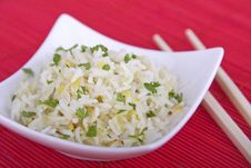 Free Bowl Of Rice With Chopsticks Royalty Free Stock Photos - 14331378