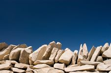Free Stack Stone On Blue Sky Stock Photo - 14331460