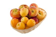 Fruits In Basket With Hand Made Clipping Path Royalty Free Stock Image