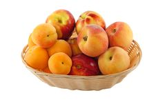 Fruits In Basket With Hand Made Clipping Path