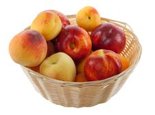 Fruits In Basket With Hand Made Clipping Path Royalty Free Stock Photo