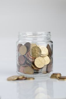 Free Jar Of Coins Stock Photo - 14331590