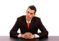 Free Pensive Businessman Royalty Free Stock Photos - 14331718