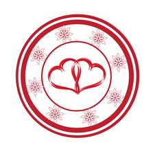 Free Heart Stamp Royalty Free Stock Photography - 14332057