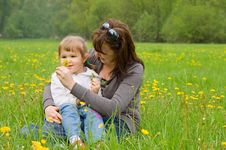 Free Mum With A Daughter Stock Photos - 14332413