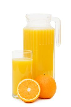 Free Orange Juice In A Decanter Isolated Royalty Free Stock Images - 14332679