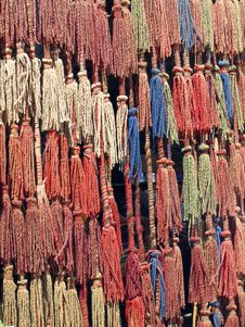 Free Bedouin Wool Muti-tier Tassel Curtain Royalty Free Stock Image - 14332726