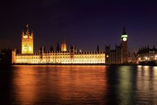 Big Ben And Westminster At Night Stock Photo