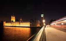 Big Ben And Westminster At Night Royalty Free Stock Photography