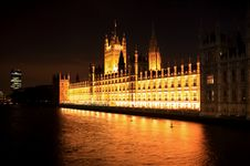 Big Ben And Westminster At Night Royalty Free Stock Photo