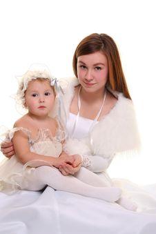 Free Girls On White Royalty Free Stock Photos - 14333768