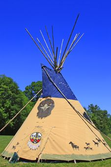 Indian Tee Pee Royalty Free Stock Photography