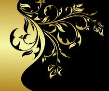 Free Gold Floral Card Stock Photo - 14334030