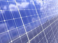 Solar Panel Background Stock Photography