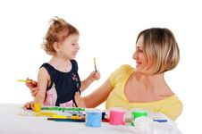 Free Mom And Her Little Daughter Royalty Free Stock Photography - 14335137