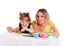 Free Mom And Her Little Daughter Stock Photography - 14335142
