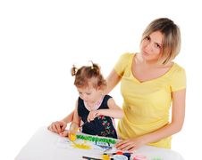 Free Mom And Her Little Daughter Royalty Free Stock Photo - 14335155