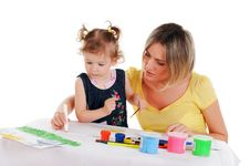 Free Mom And Her Little Daughter Stock Photography - 14335172