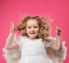 Free Beautiful Little Angel Girl Stock Photos - 14335363
