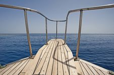 Free View From The Bow Of A Sailing Yacht Stock Photos - 14335483
