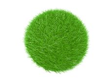 Free Three Dimensional  Of Green Grass Ball Royalty Free Stock Image - 14335726