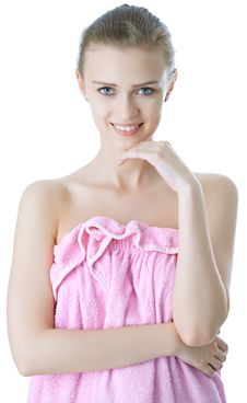 Free Beauty Young Girl  Day Spa Royalty Free Stock Photography - 14335817