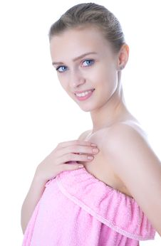 Free Beauty Young Girl  Day Spa Royalty Free Stock Photos - 14335828