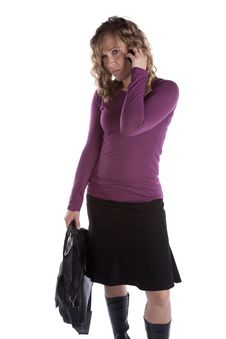 Free Business Woman On Phone Mad Royalty Free Stock Photo - 14335975