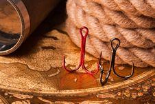 Free Fishing Hooks Royalty Free Stock Image - 14336056