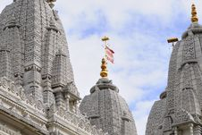Free One Flag Flying On Towers Of Indian Temple Stock Images - 14336174