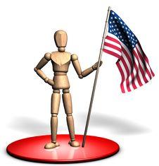 Free Statue Of Usa Flag Stock Photos - 14336473