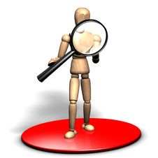 Free Searching With A Magnifier Royalty Free Stock Image - 14336486