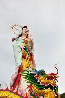Free Chinese Goddess And Dragon Stock Photo - 14336810