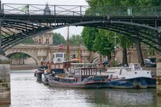 Riverboats On The Seine River Royalty Free Stock Photo