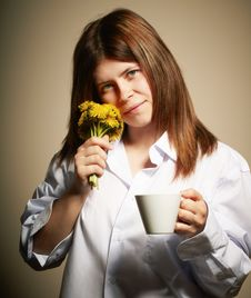 Free Girl With Coffee Stock Photo - 14337740