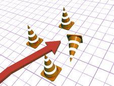 Free Cones And Arrow Stock Photos - 14338293