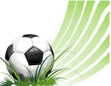 Free Football Background With Ball Royalty Free Stock Photos - 14338378