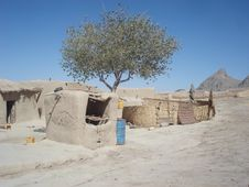 Free View Of A Village In The Desert Royalty Free Stock Images - 14338429