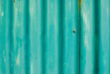 Blue Corrugated Plate Texture Stock Photography